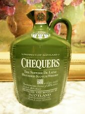 WHISKY – CHEQUERS BLENDED SCOTCH WHISKY OLD PORCELAIN DECANTER  THE SUPERB DE LU