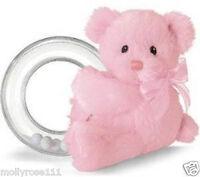 Baby Girl Pink Baby Gund Teddy Bear My First Teddy Rattle Beautiful Newborn Gift