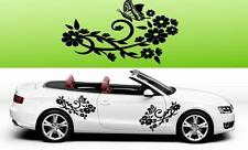 F3 2x Farfalla Fiore Vinile Auto grafiche Adesivi Decalcomanie BIG molti colori