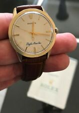Rolex Vintage Gold Oyster 7002 With Papers Automatic Movement Logo Dial Dress