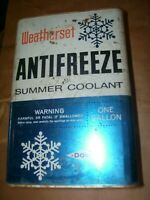 VINTAGE WEATHERSET  1 GALLON TIN  ANTI FREEZE CAN - GOOD COLORS - 1960 ?