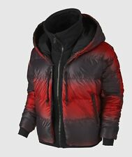 NIKE Uptown 550 Down Cocoon Hooded Full-Zip Jacket Burgundy Red Black Sz S/M New