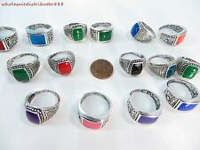 US SELLER bulk lot 15pcs wholesale  fashion costume rings jewelry faux stone