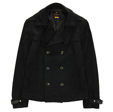 NII Mens Casual Button Front Short Length Coat Jacket Black Size M NWT Wool