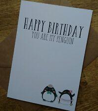 Happy Birthday boyfriend girlfriend penguin