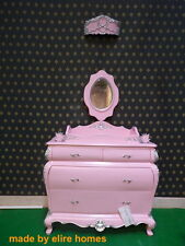 Princess baroque baby changer with chest of drawers and voal holder crown corona