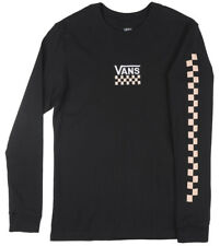 VANS Off the Wall Checkered Long Sleeve Shirt Skate Top Womens Black