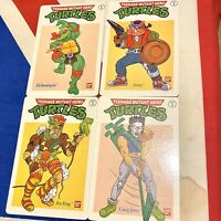 VINTAGE 1990 TEENAGE MUTANT HERO TURTLES  INFORMATION CARDS SET No 3 VGC