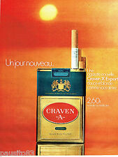 PUBLICITE ADVERTISING 016  1971  CRAVEN A cigarettes export