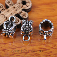 80pcs Charms Tibet Silver Connector Bails Fit Pandent DIY Jewery Making A7292