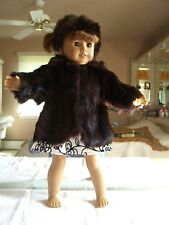 """REAL Fur Coat & Hat for 18""""  American Girl Doll - excellent condition!"""