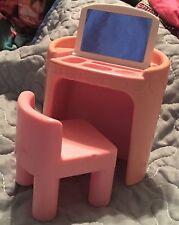 Little Tikes dollhouse furniture pink vanity chair vintage