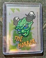 Goosebumps - 1996 Topps - Silver Foil Sticker - #6 The Horror - Spooky Halloween