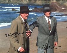 Philip Jackson and Hugh Fraser Photo Signed In Person - Poirot - A784