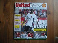 Football Programmes Man Utd V FC Copenhagen European Champions League 2006/07