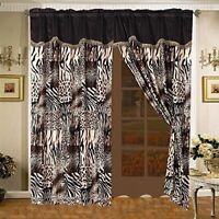 HIGH FASHION Chic fabric SHOWER CURTAIN~high Heels~Burgundy~Black Leopard Zebra