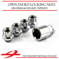 Open Ended Locking Wheel Nuts 12x1.25 Bolts for Nissan Qashqai [Mk1] 03-13