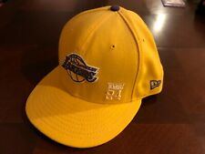 KOBE BRYANT NEW ERA NBA LOS ANGELES LAKERS KOBE 24 YELLOW HAT SIZE 7 3/8  NEW !!