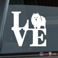 Love Pom Sticker Die Cut Vinyl - Pomeranian Pompom Park - Chose Color!