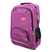 Herren Damen Freizeit Rucksack Sport Reise Wandern Backpack pink