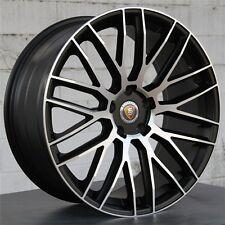 "(4) 22"" 22X10 5X130 PORSCHE CAYENNE TURBO STYLE GTS S  WHEELS BLACK MACHINE NEW"