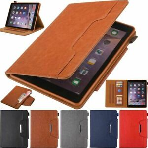 For iPad 5/6th 7/8th Mini Air Pro Business Style Smart Leather Case Stand Cover