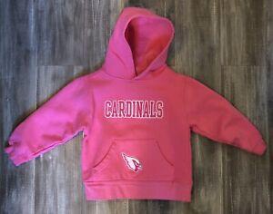 Arizona Cardinals Girls Pink Hoodie 4t
