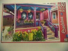 500 Piece Jigsaw Puzzle (Pretty Purple Porch) Puzzlebug -New