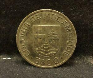 1935 Mozambique (Portuguese Colony) silver 5 escudos, 1-year type KM-62 (MZ2)