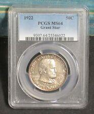 1922 Grant Star Commemorative Half Dollar PCGS MS64