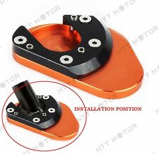 HTTMT Side Stand Extension Pad Plate Kickstand For KTM 125 200 390