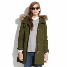 Madewell by J Crew Fairbanks Parka Coat Jacket Green Medium $229