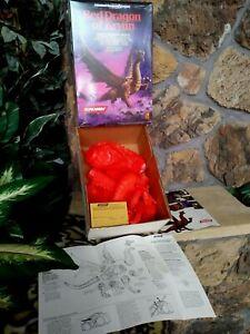 SCREAMIN' RED DRAGON OF KRYNN ADVANCED D & D SOFT VINYL MODEL KIT #4100, NEW MIB