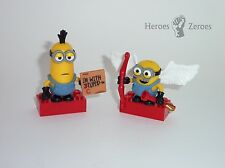Despicable Me Mega Bloks Minion Made KEVIN & BOB Cupid Valentine's Day Lot 2x