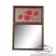 Faux Bamboo Gilt Frame Trumeau Mirror