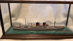 Ron Hughes 1:600 SS Andria Handmade Waterline Model Ship w/ Case