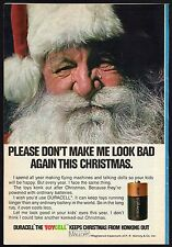 1973 DURACELL BATTERY AD~SANTA CLAUS~PR MALLORY CO~TOYCELL~CHRISTMAS
