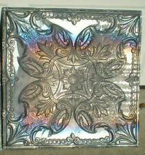 Sale Antique Iridescent Victorian Ceiling Tin Tile Fleur De Li Flowers Shabby