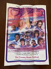Jamboree In The Hills Promotional Poster July 18-19 1987 Wheeling, West Virginia