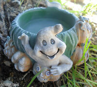 """Latex pumpkin ghost candle holder mold  plaster concrete  4.25""""W x 2""""H"""