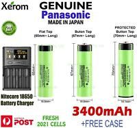 18650B Charger + Panasonic NCR 18650B 3400mAh Lithium Li-Ion Rechargeable