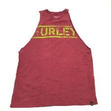 Vintage Hurley Coupé Chemise Rouge Débardeur Homme Taille S S sans Manche Bio