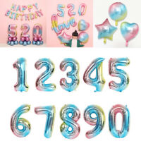 """32"""" Giant Foil Number Helium Letter Large Baloon Birthday Party Wedding Decor"""