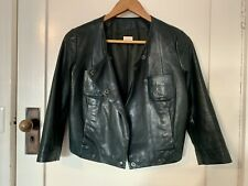 Gorman Bottle Green Soft Leather Jacket Size 8