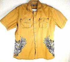 Ecko Unlimited Heaven & Hell Button Up Shirt Sz 2XL