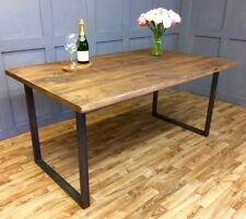 Industrial Dining Table Rustic Vintage Farmhouse Reclaimed Dining SQUARE BASE