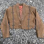 Vintage Paris Dakar Women's 100% Leather Suede Coat Jacket