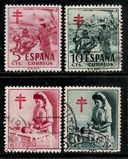SPAIN 1951 & 1953  Old Charity Semi Postal Stamps - Spanish Lung Association