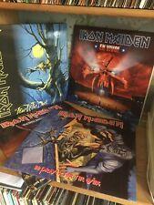 4 X Iron Maiden Albums En Vivo Maiden England No Fear For Nr Mint