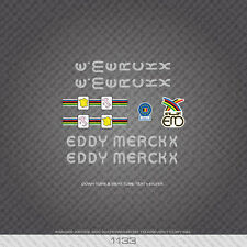 01133 Eddy Merckx Bicycle Stickers - Decals - Transfers - Silver
